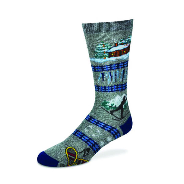 Winter Cabin Sock