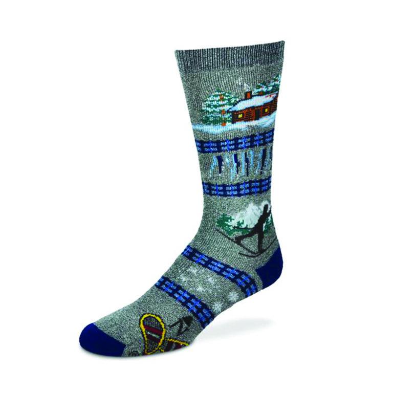 Winter Cabin Sock