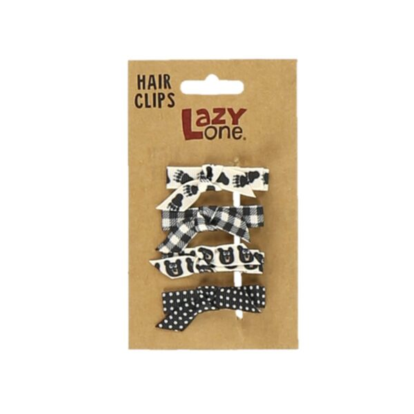 Black Bear Hair Clip Set