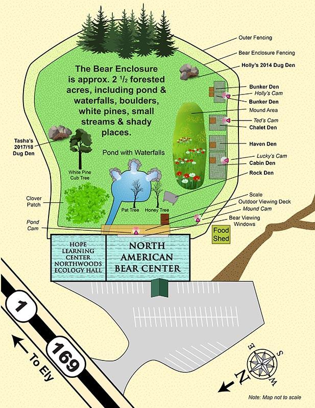 Interactive map of enclosure