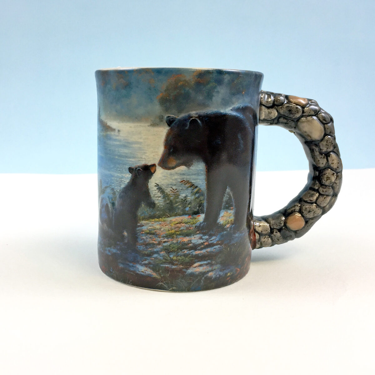 Bear Scene Stone Mug