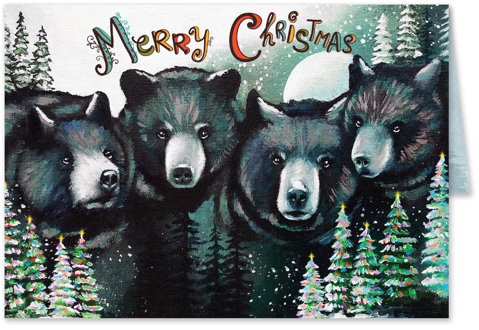 4 Bear Holiday Cards