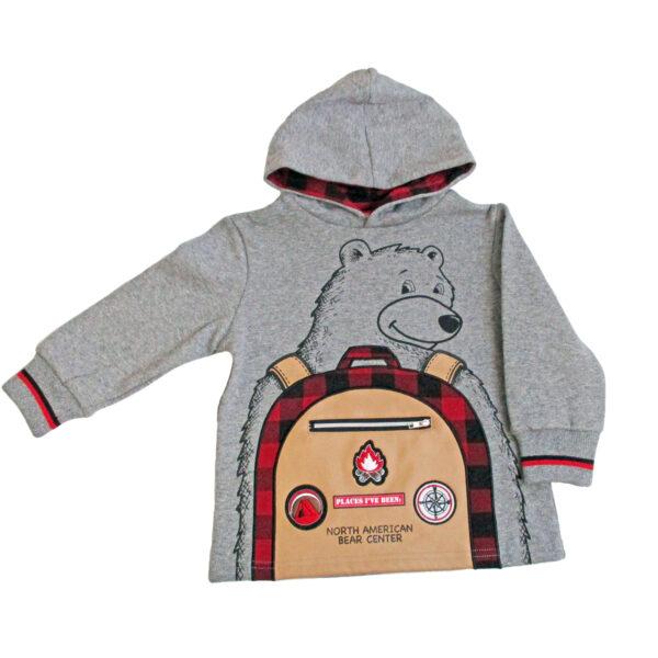 Kids Bear Backpack Hoody