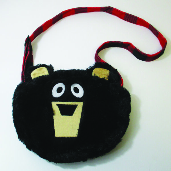 Soft Black Bear Purse
