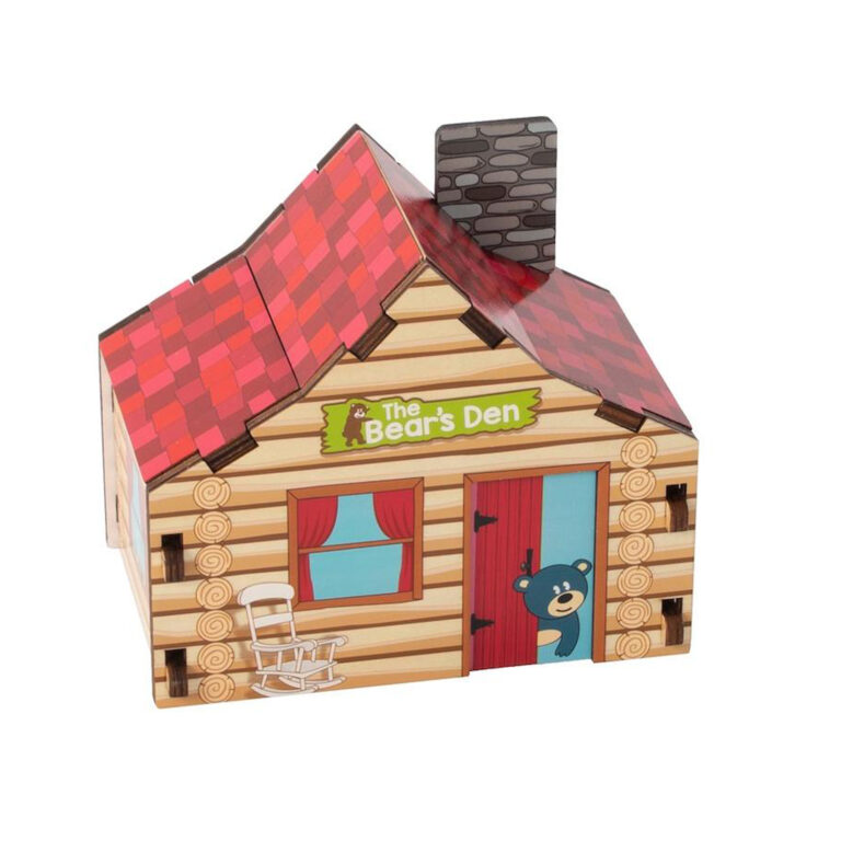 Build It Puzzle Cabin