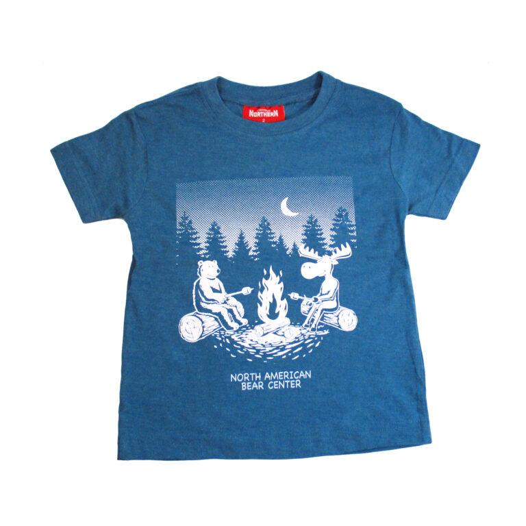 Bear/Moose Kids Teal Campfire T