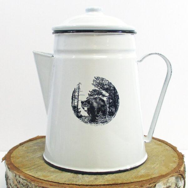 Enamel Bear Coffee Server