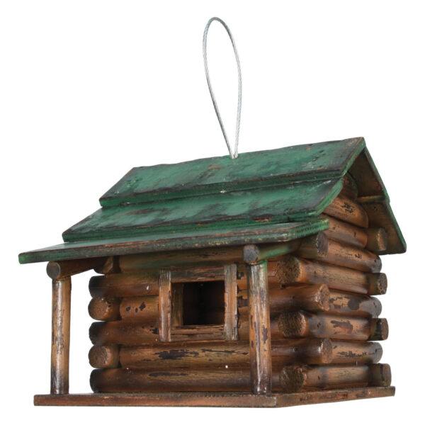 Birdhouse Wood Log Cabin