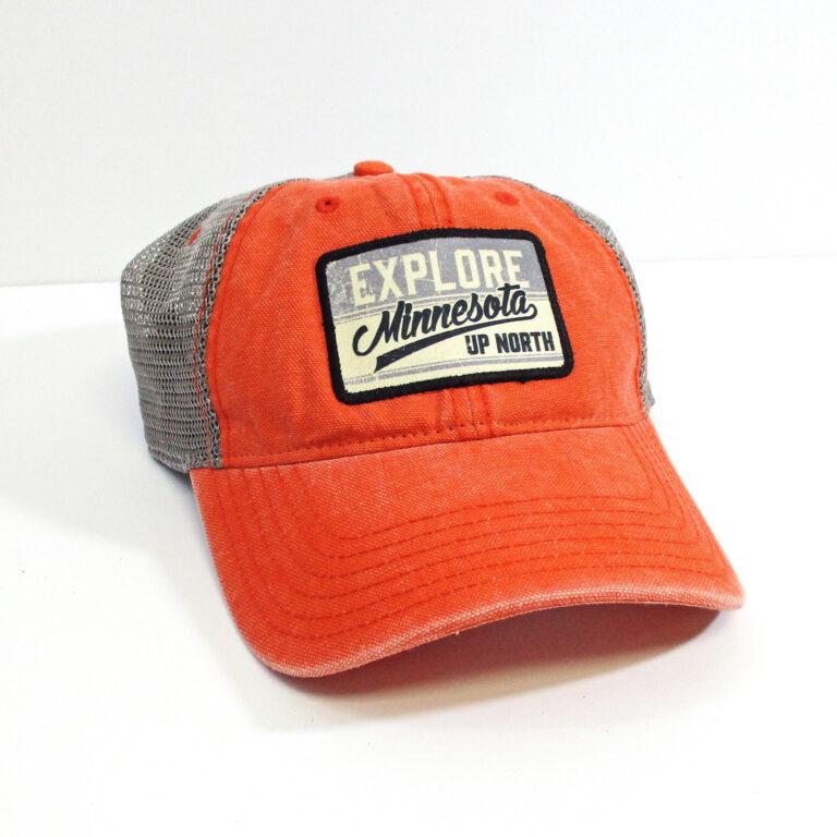 Explore MN Hat in Orange/Gray
