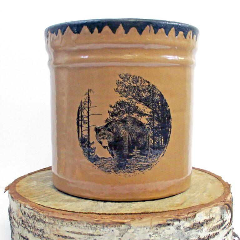 Pottery Bear Utensil Holder